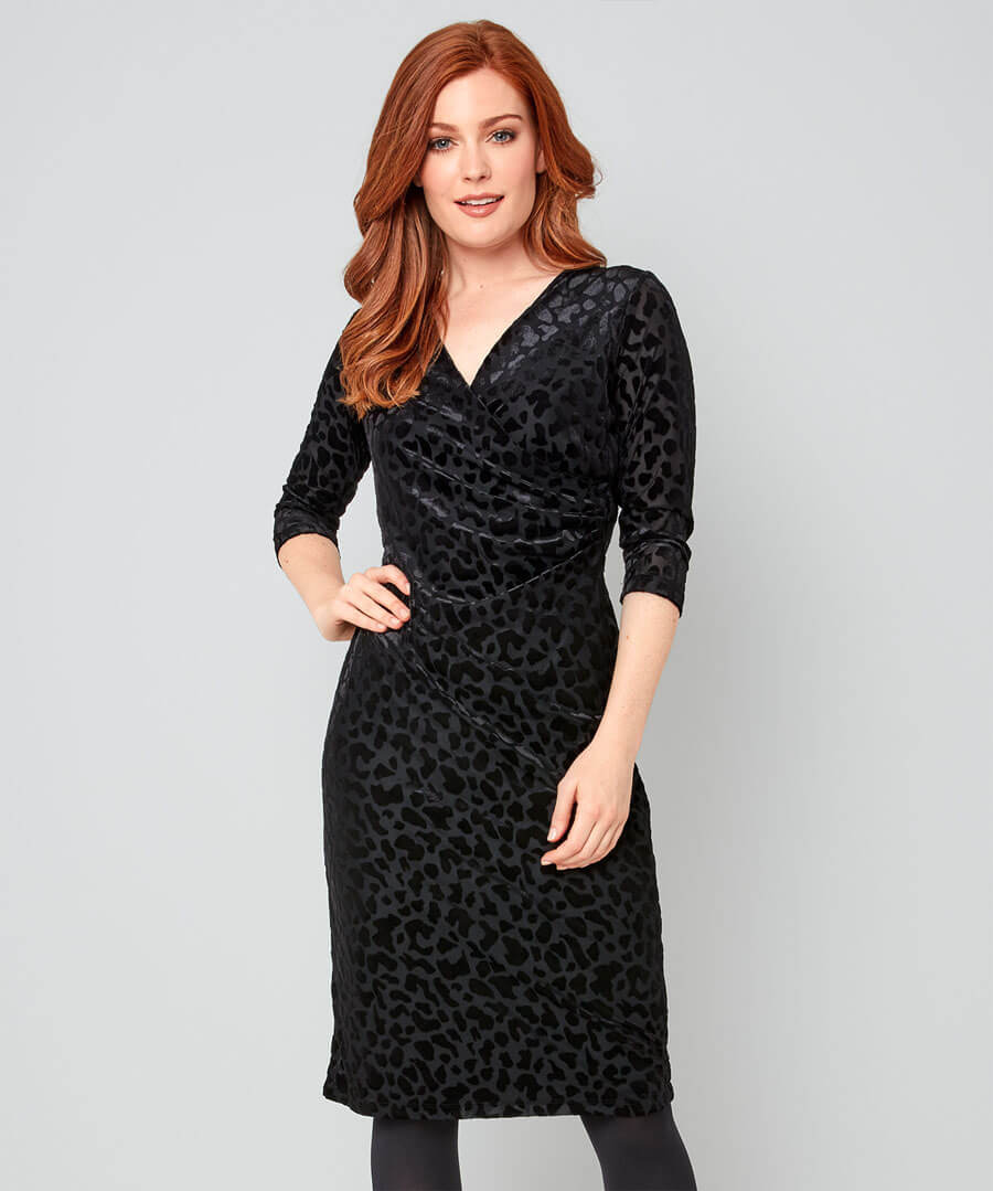 Glamorous Devore Dress Model Front
