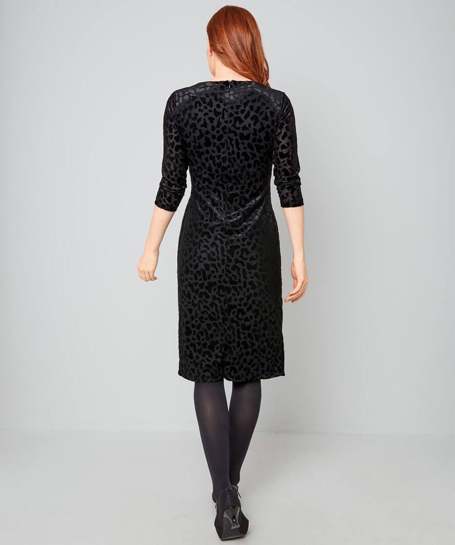 Glamorous Devore Dress Model Back