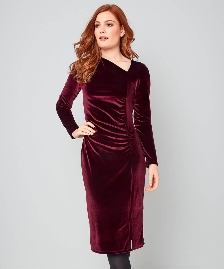 Vivacious Velvet Dress Model Front