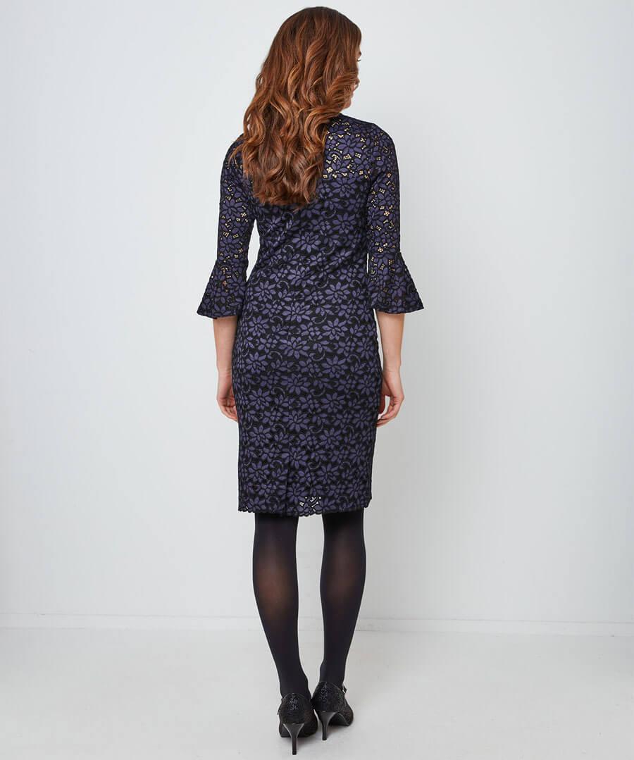 Under The Mistletoe Dress Model Back