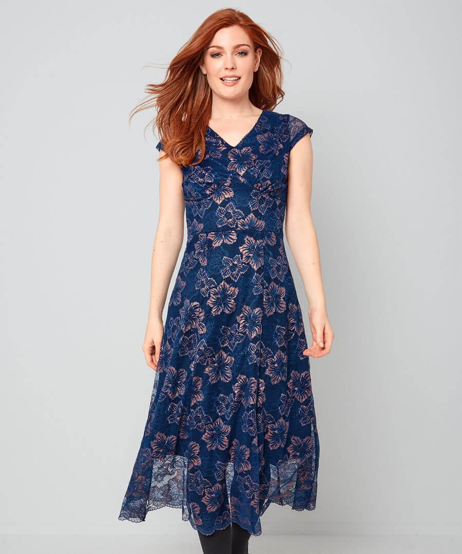 Art Deco Dress Model Front