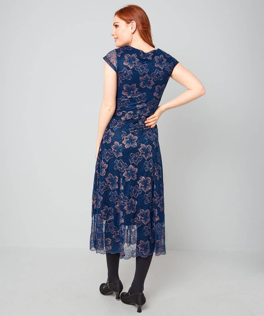 Art Deco Dress Model Back