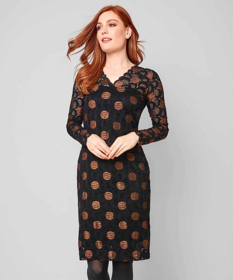 Sparkle Lace Dress Model Front
