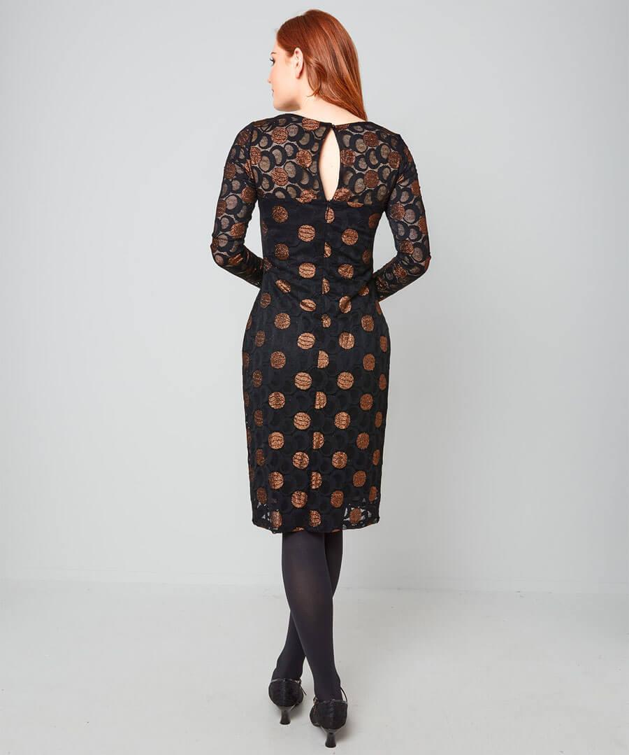Sparkle Lace Dress Model Back
