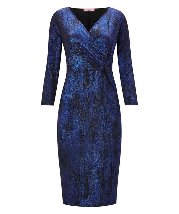 Crinkle Wrap Dress