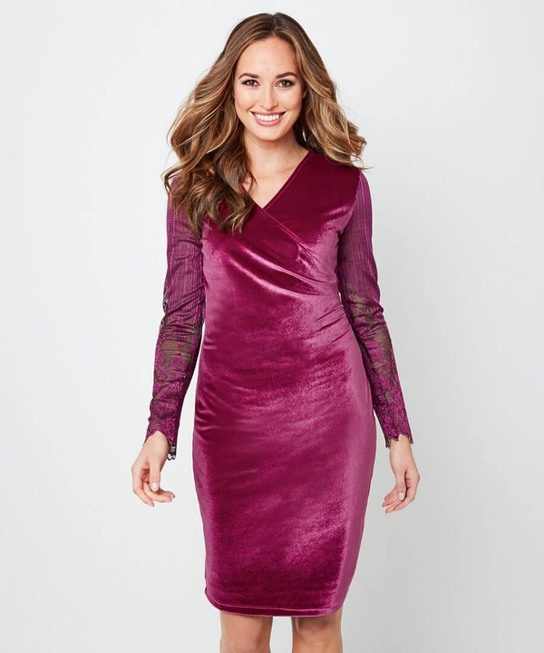 Wrap Up Velvet Party Dress