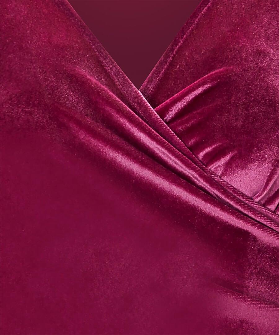 Wrap Up Velvet Party Dress Back