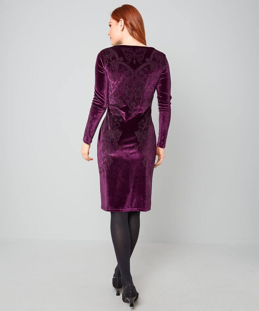 Versatile Velvet Party Dress Model Back