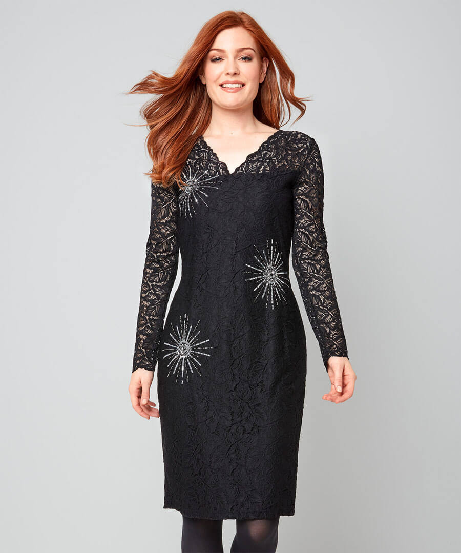 A Touch Of Sparkle Dress Model Front