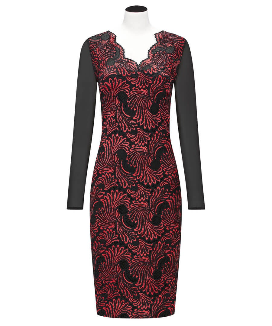 Lavish Lace Dress Model Front