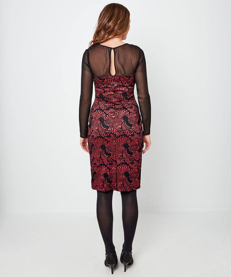 Lavish Lace Dress Model Back