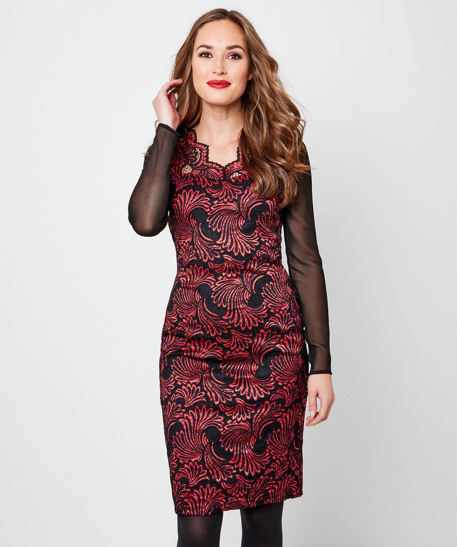 Lavish Lace Dress Back