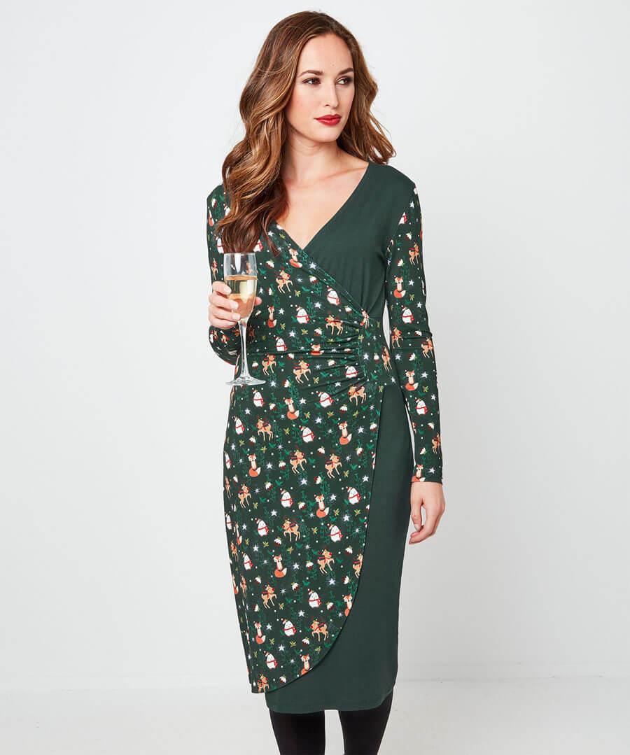 Christmas Cracker Dress Model Front