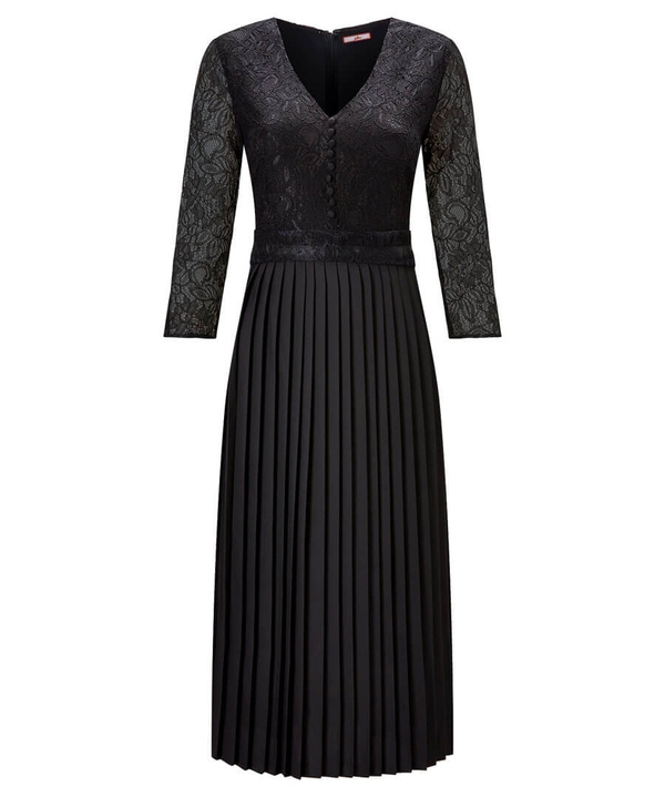 Exceptional Lace Pleated Dress