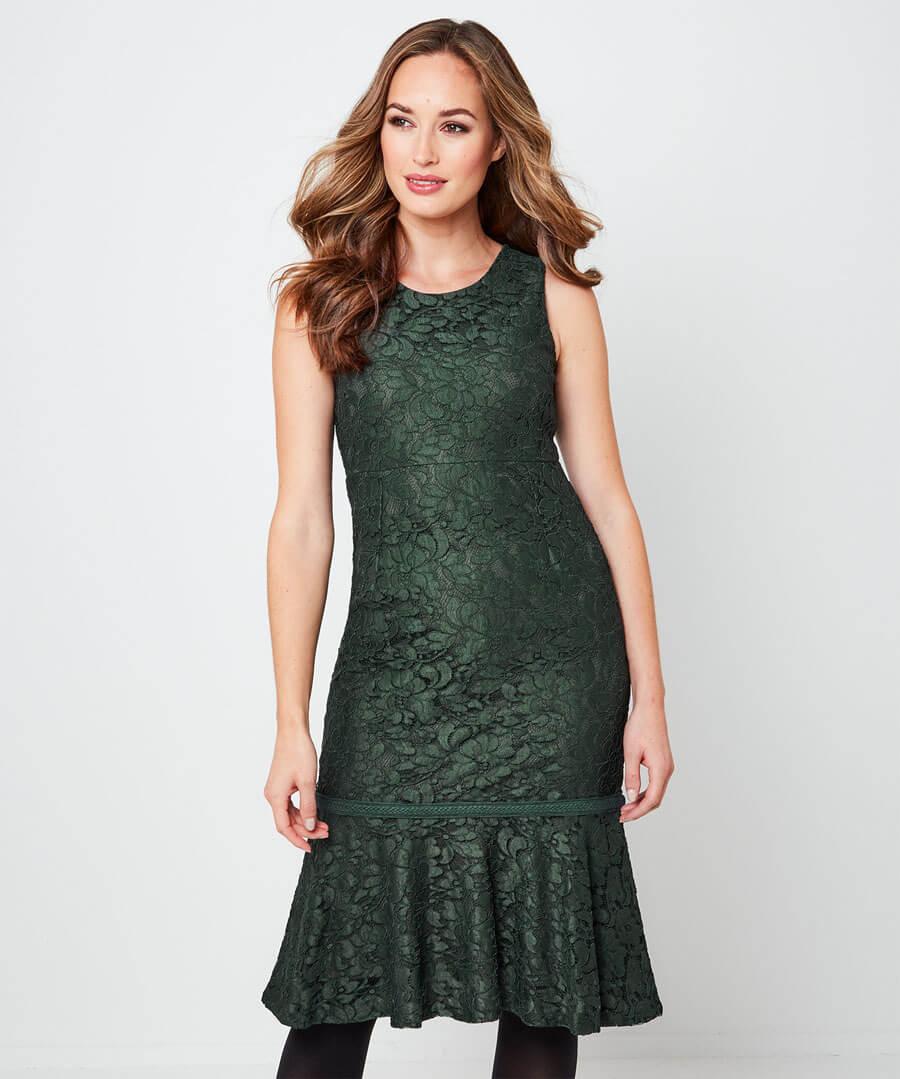 Beautiful Lace Dress Model Front
