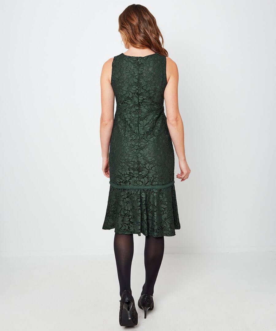 Beautiful Lace Dress Model Back