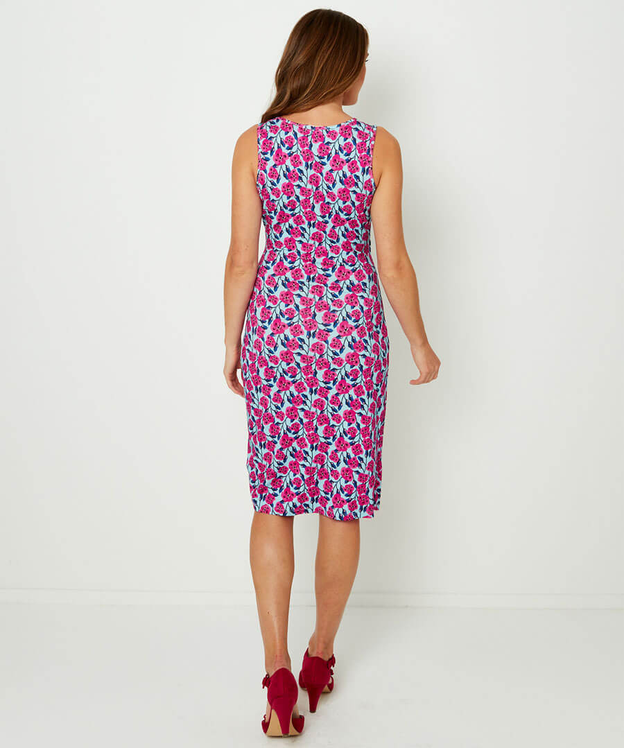 Flirty Flattering Dress Model Back
