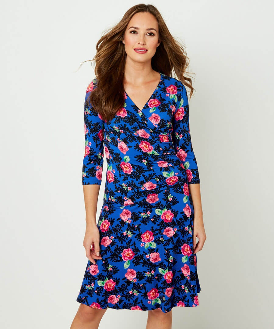 Dreamy Floral Dress Model Front