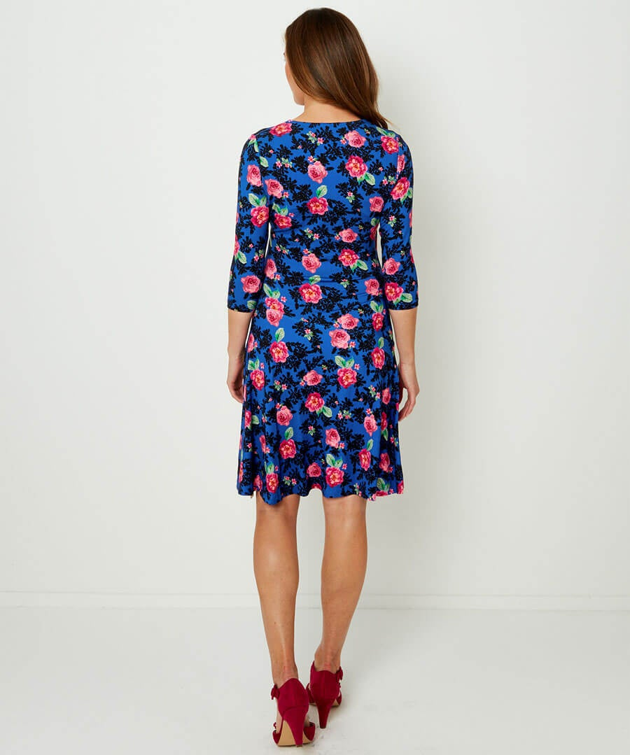 Dreamy Floral Dress Model Back