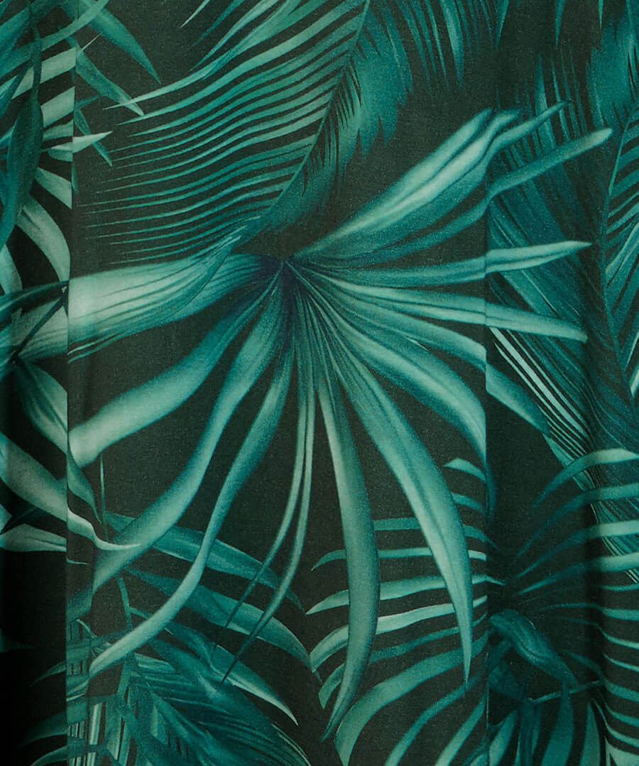 Night Palm Dress Back
