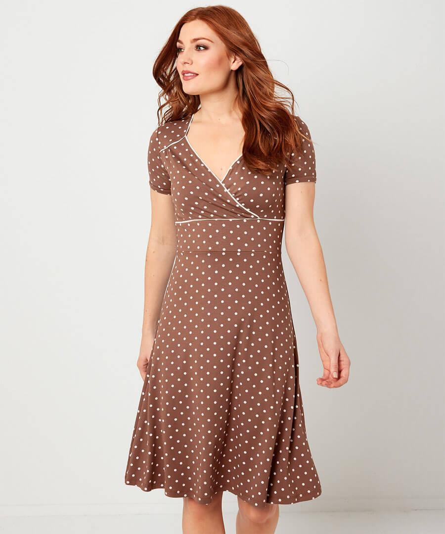 Perfect Polka Dot Dress Model Front