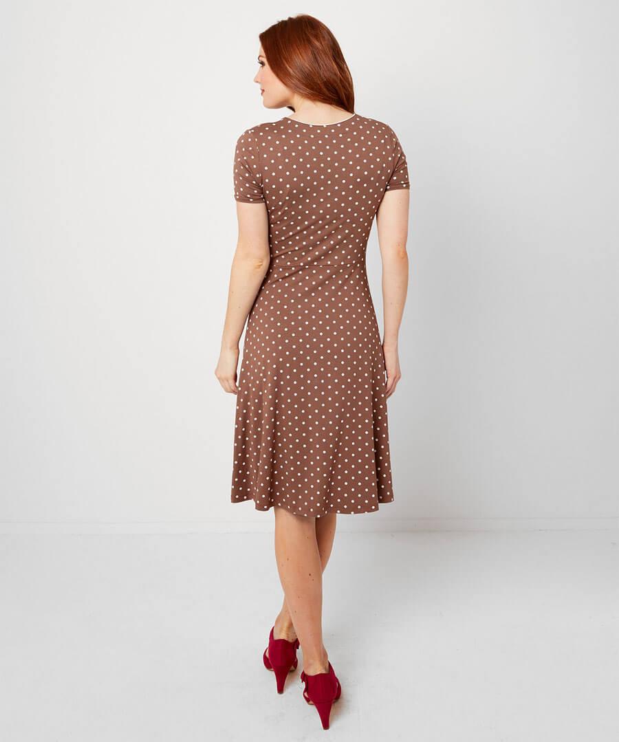 Perfect Polka Dot Dress Model Back