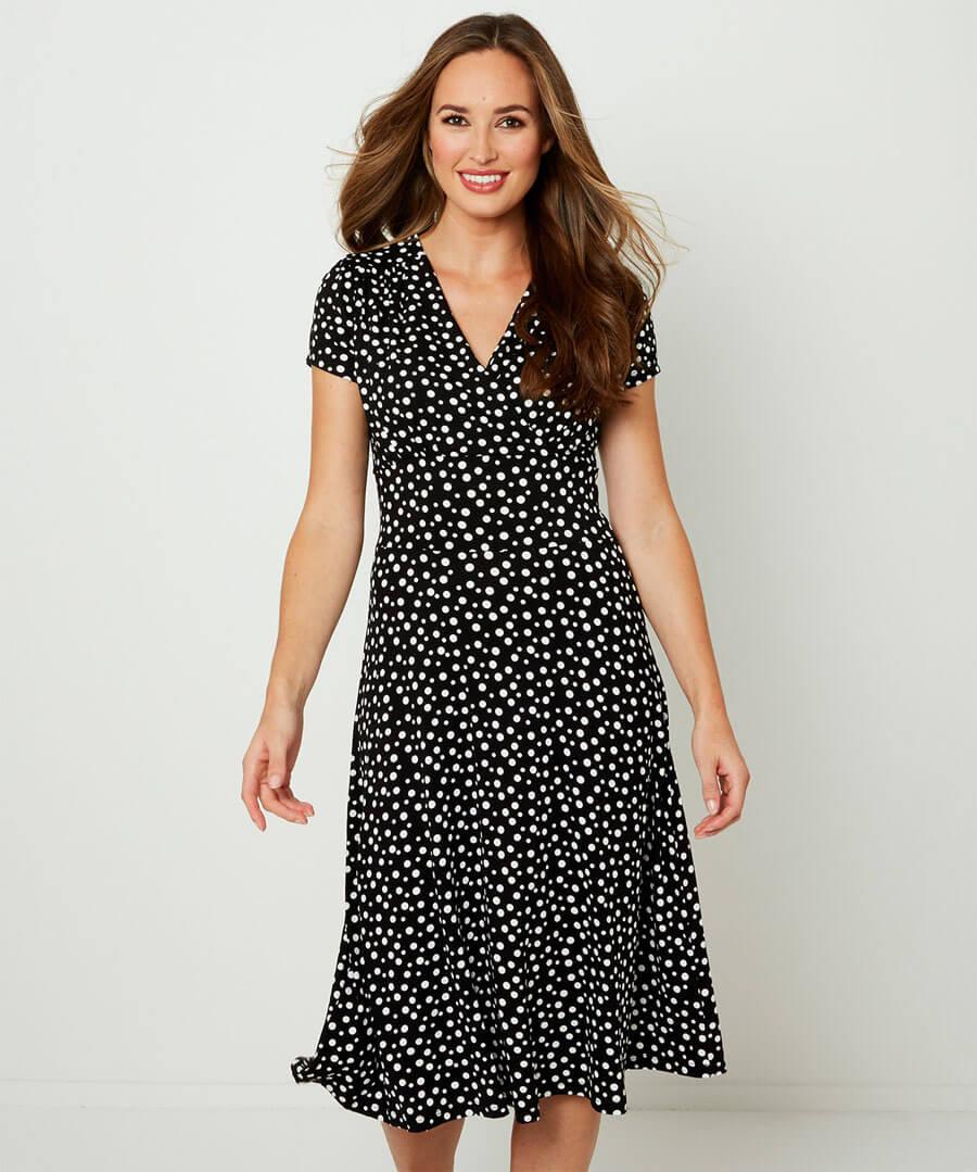 Flattering Jersey Dress Model Front