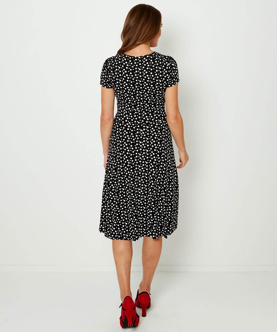 Flattering Jersey Dress Model Back
