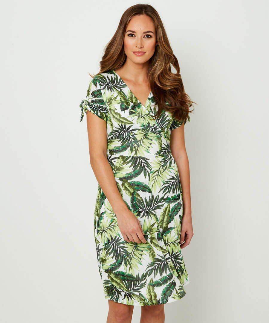 Jazzy Jungle Dress Model Front