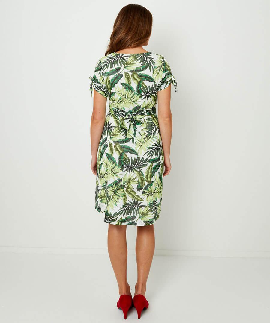 Jazzy Jungle Dress Model Back