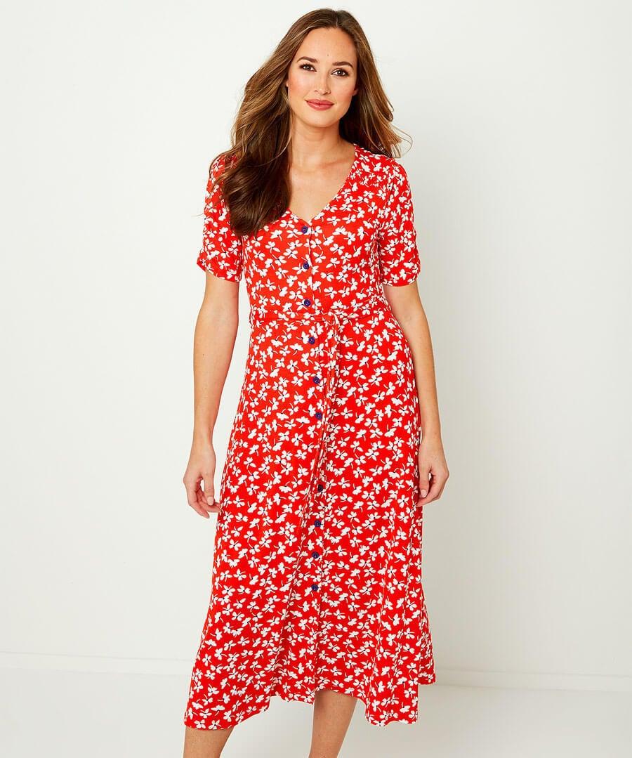 Vintage Jersey Dress Model Front