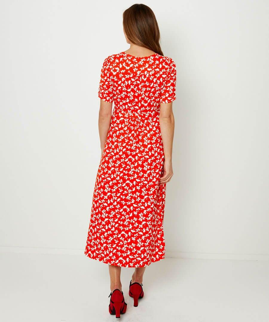 Vintage Jersey Dress Model Back