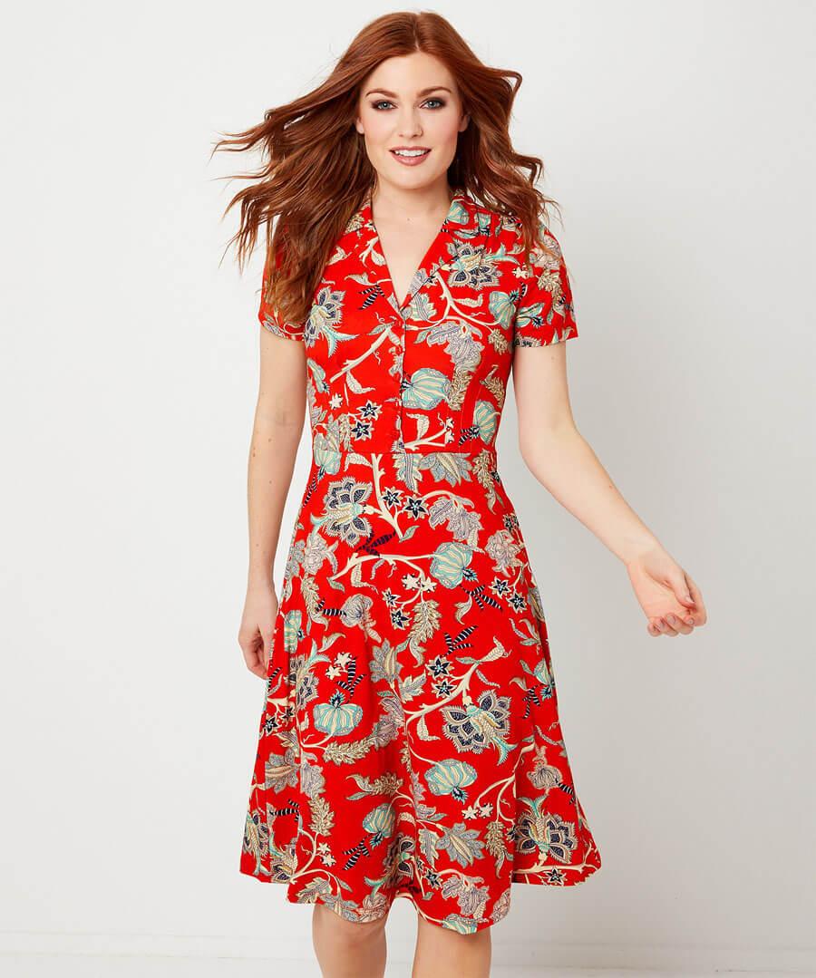Jersey Shirt Dress Model Front