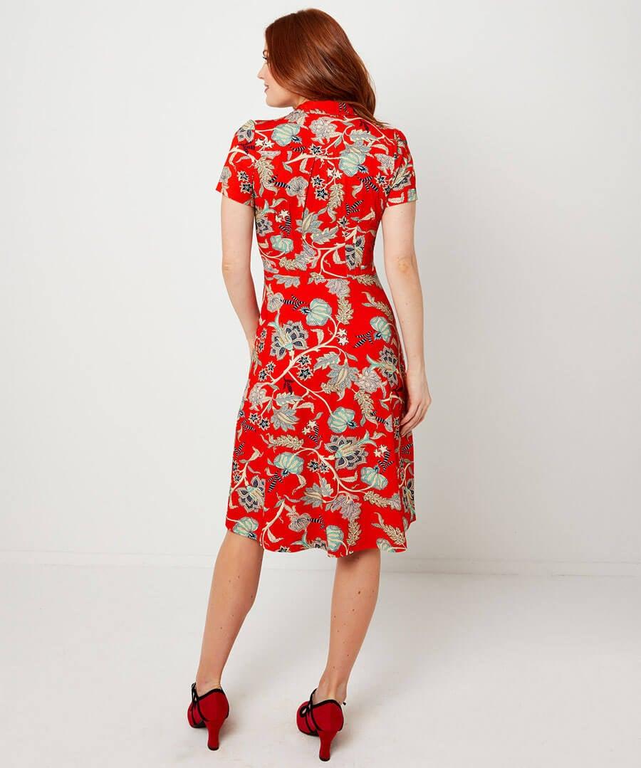 Jersey Shirt Dress Model Back