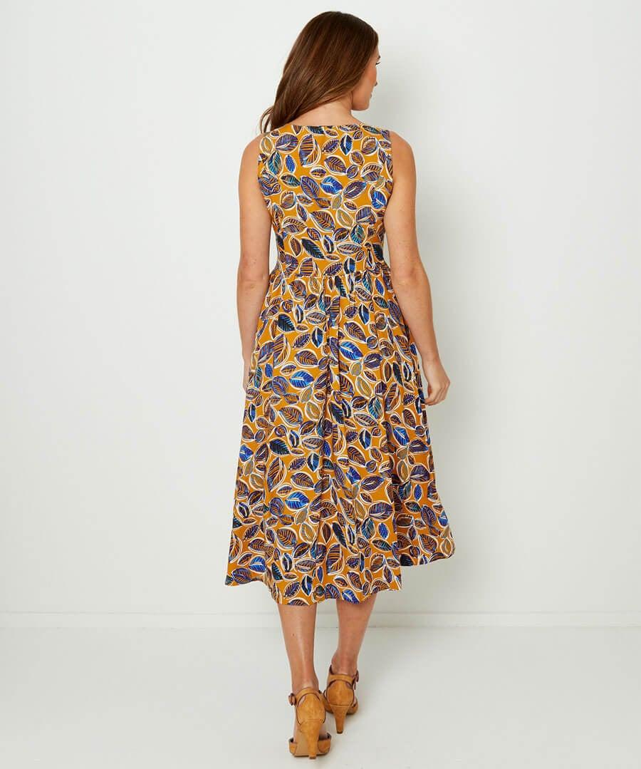 Pops Of Colour Dress Model Back