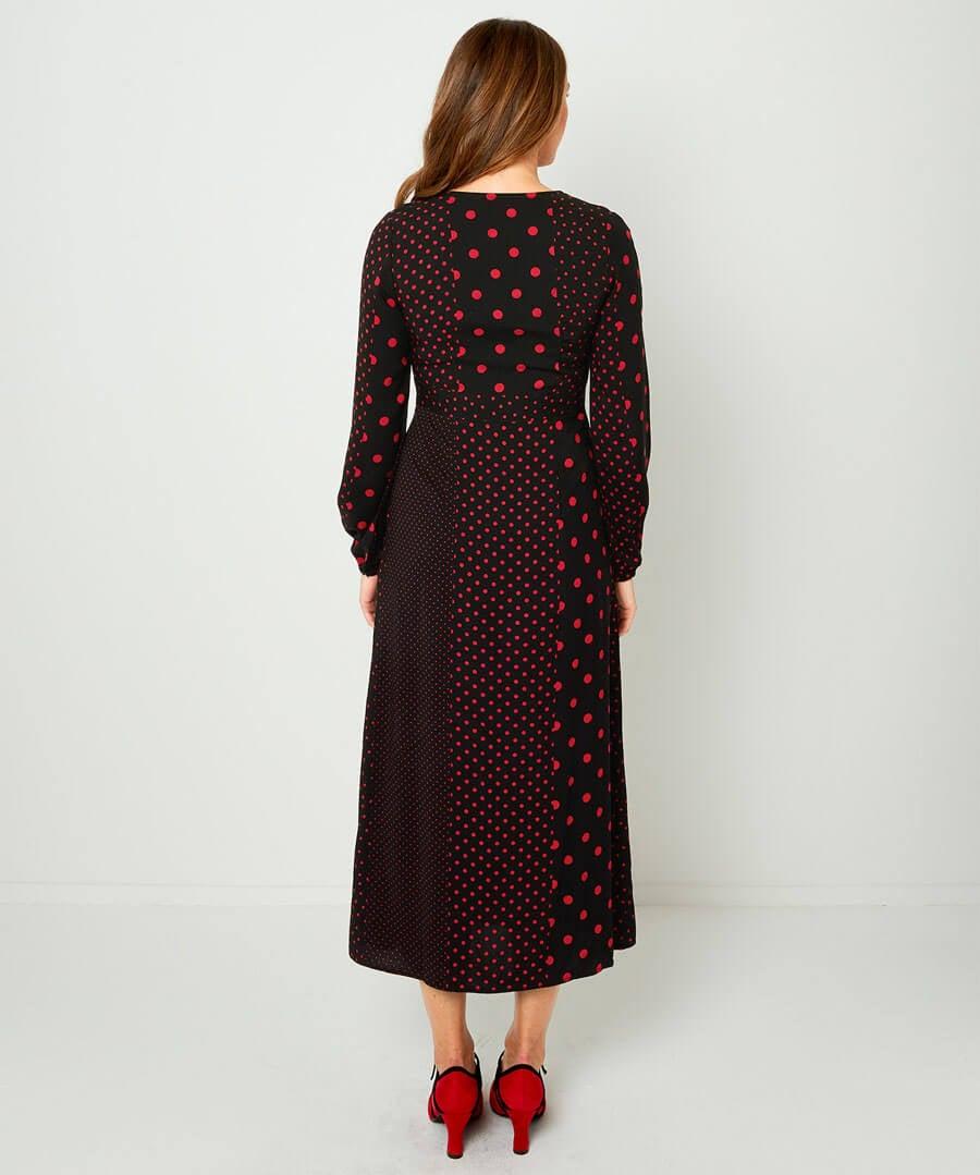 Mix It Up Midi Dress Model Back