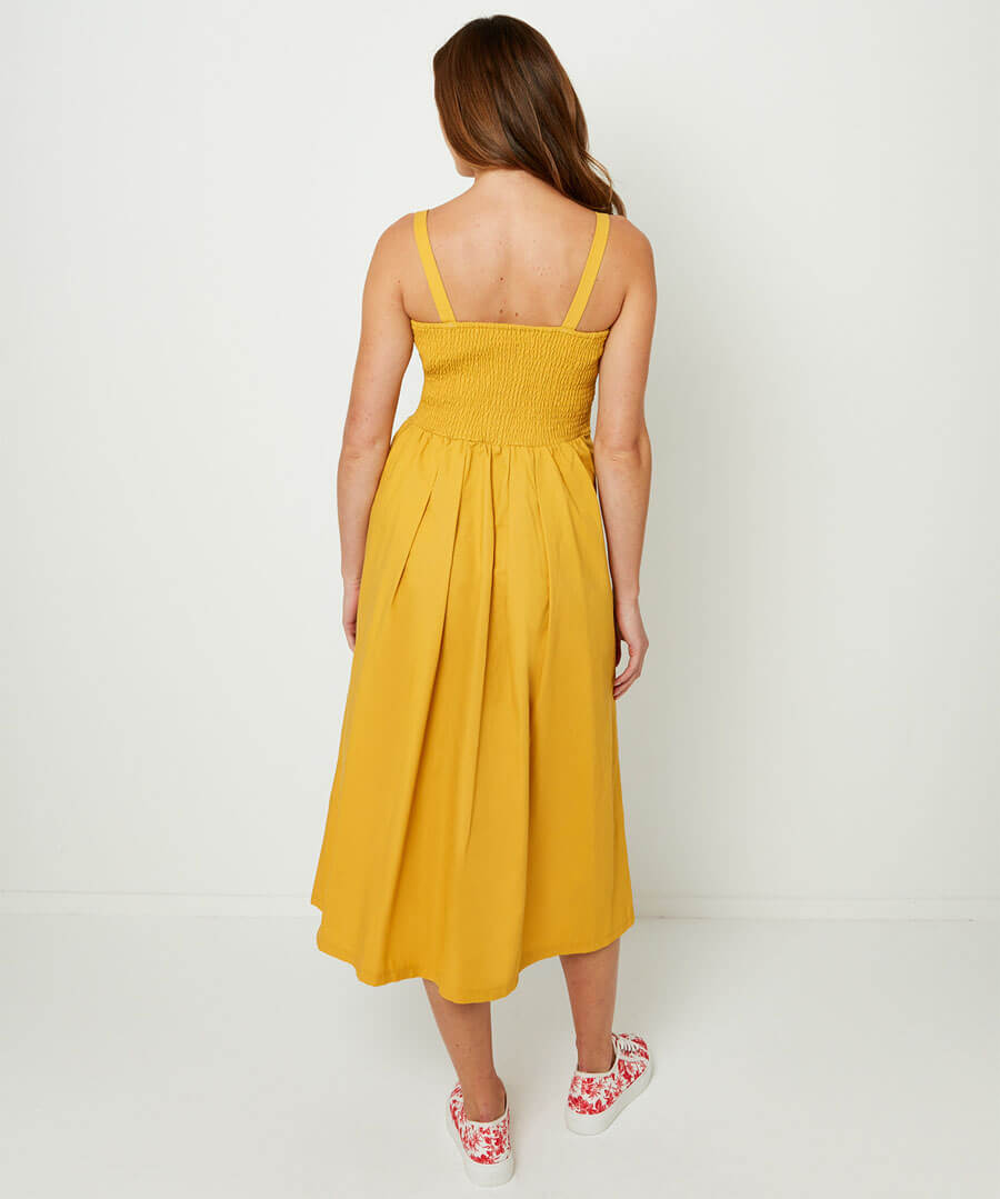 Beautiful Button Through Dress Model Back