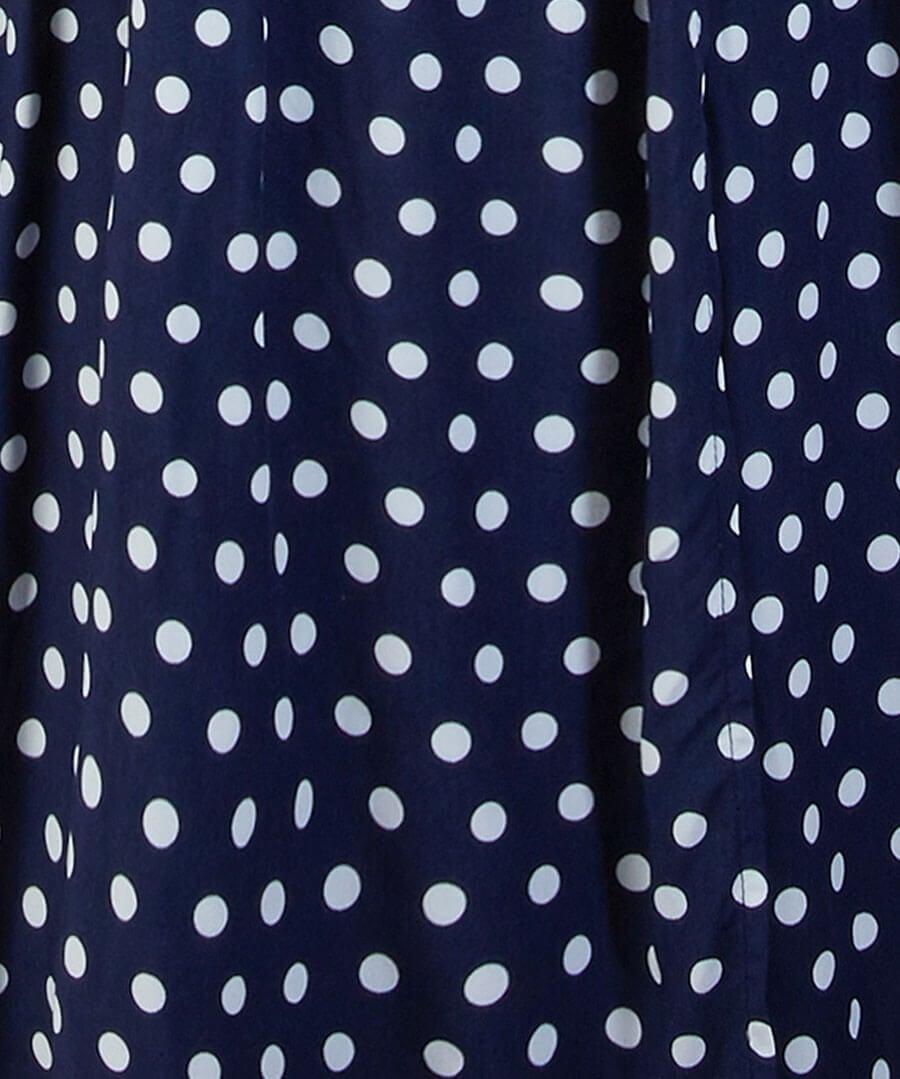 Polka Dot Wrap Dress Back