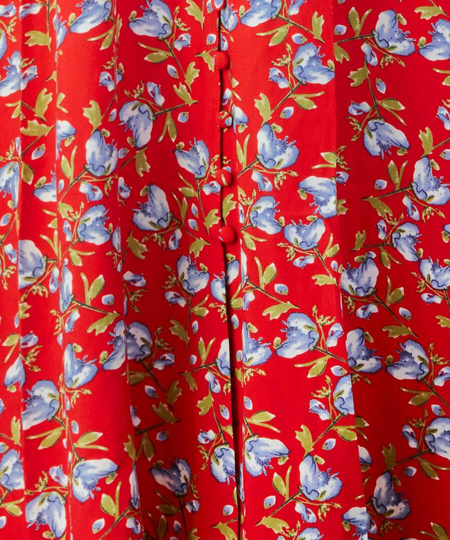 Button Through Vintage Dress Back