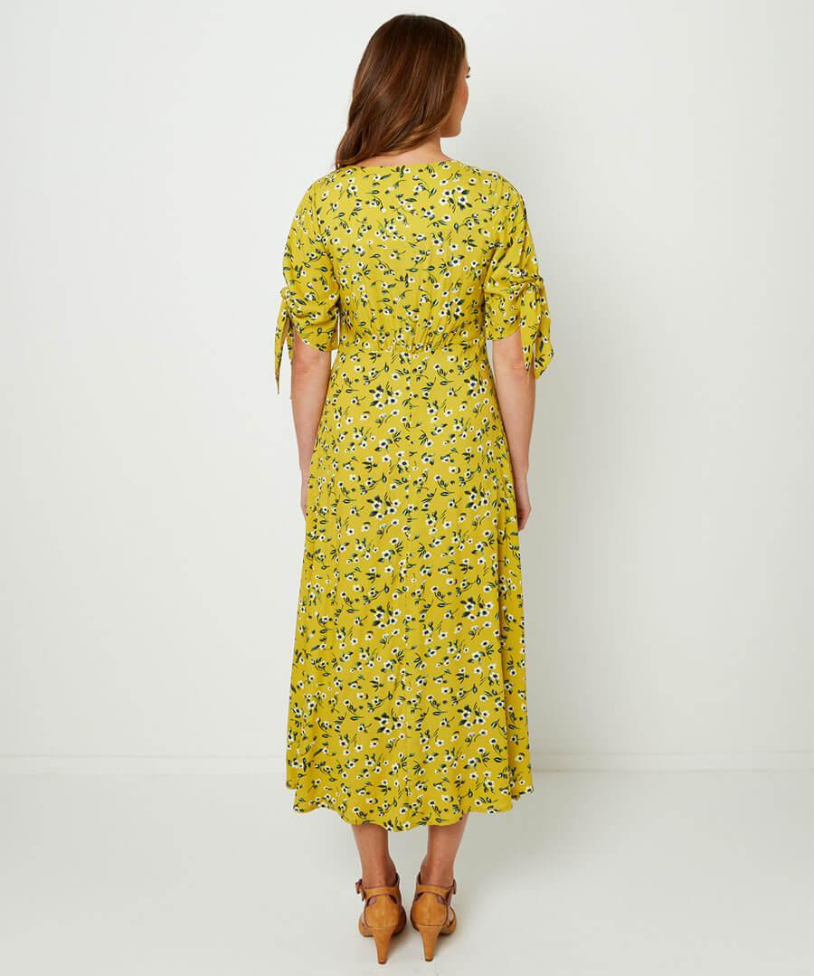 Flattering Floral Dress Model Back