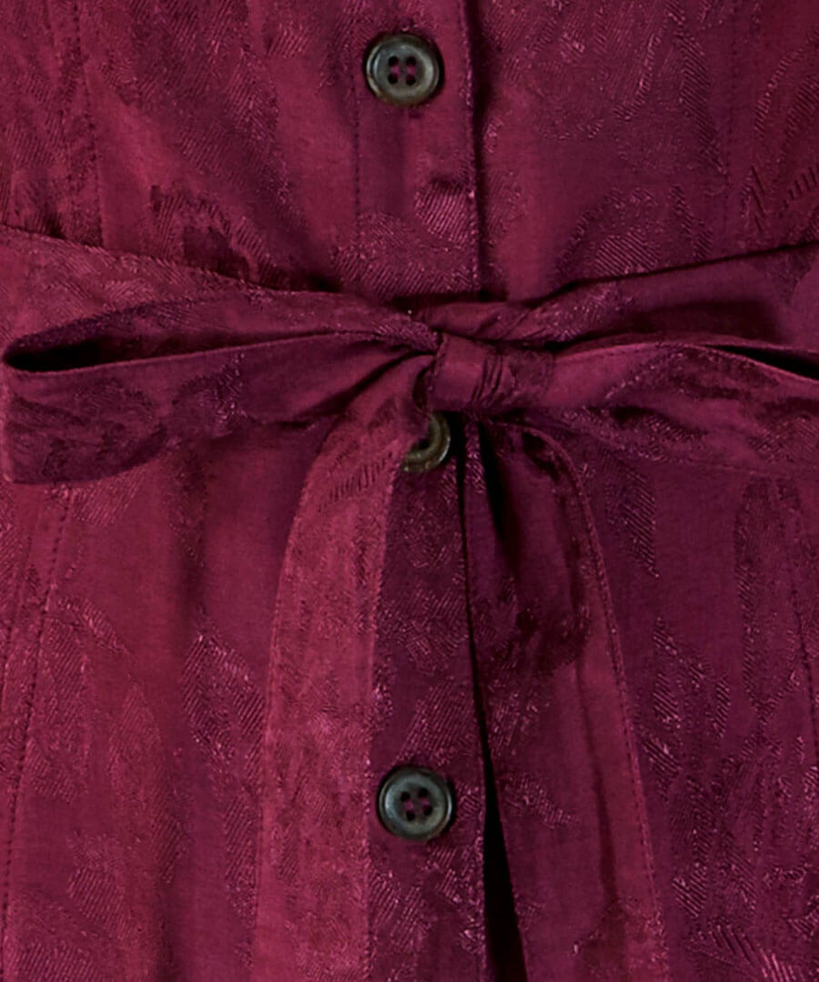 Button Through Jacquard Dress Back