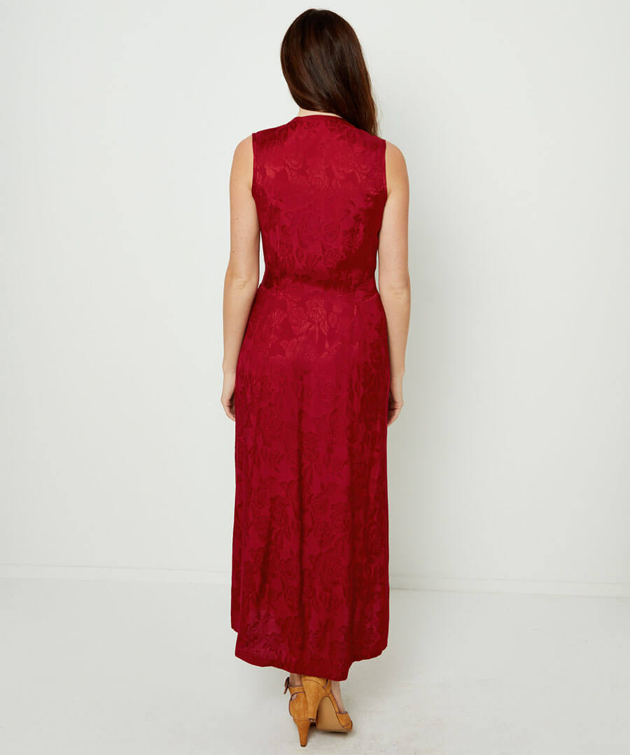 Rich Jacquard Dress Model Back