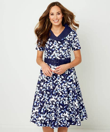 Retro Collar Dress