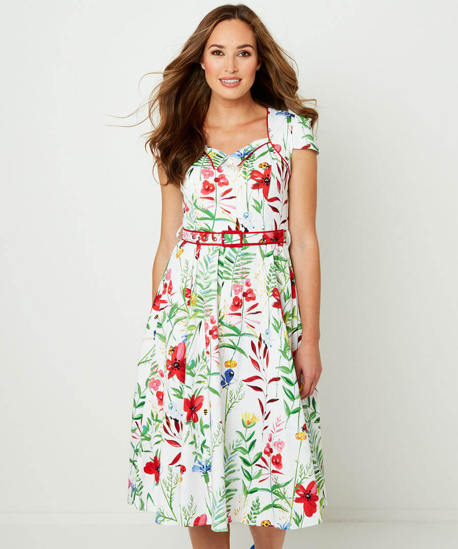Garden Party Dress Model Front