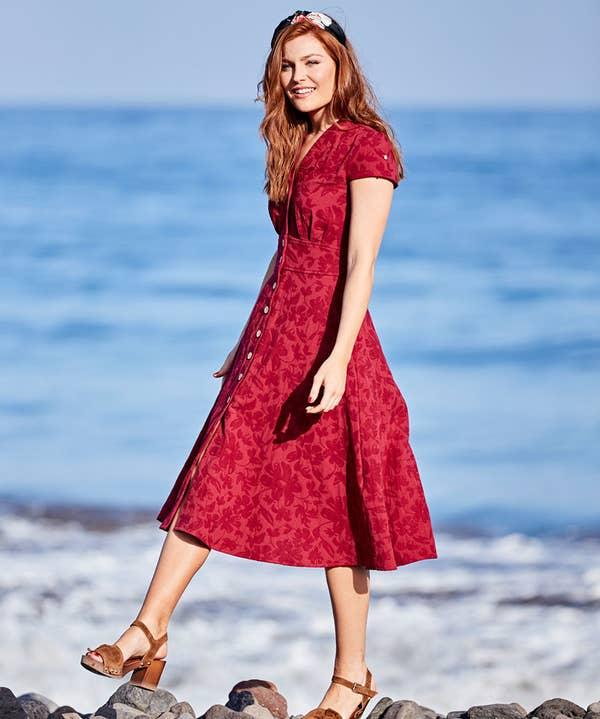 Jovial Jacquard Dress