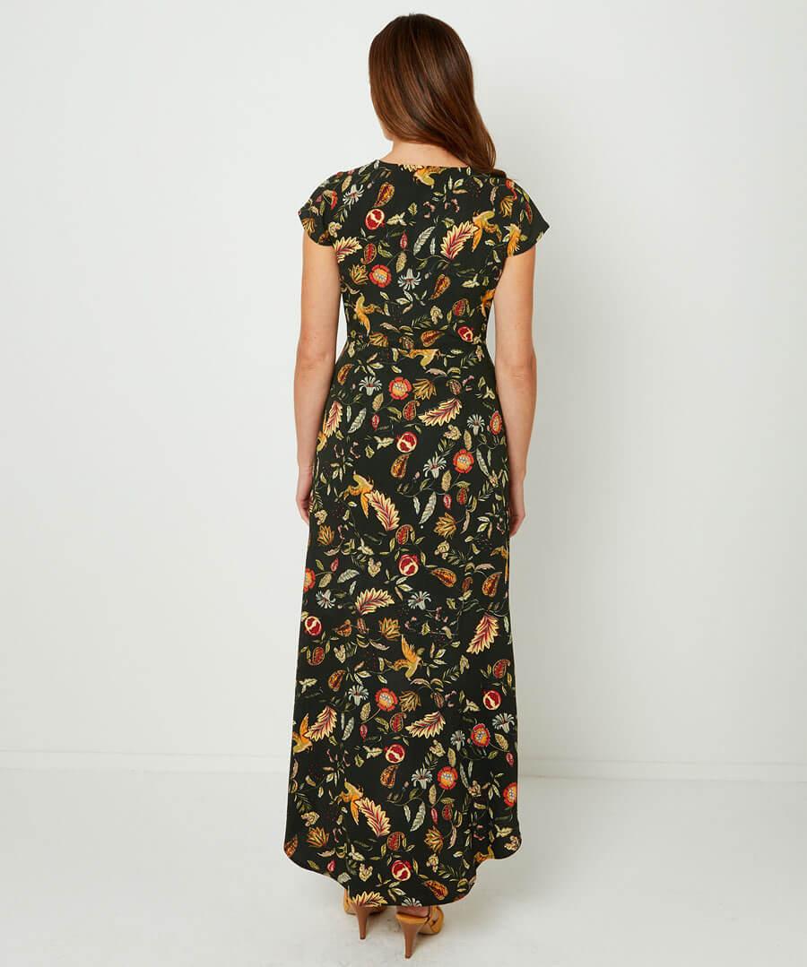 Birds Of Paradise Dress Model Back