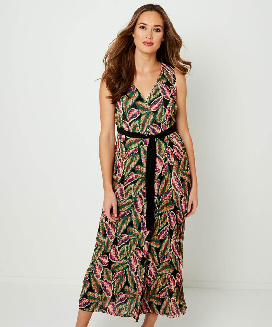 Reversible Wrap Dress Model Back