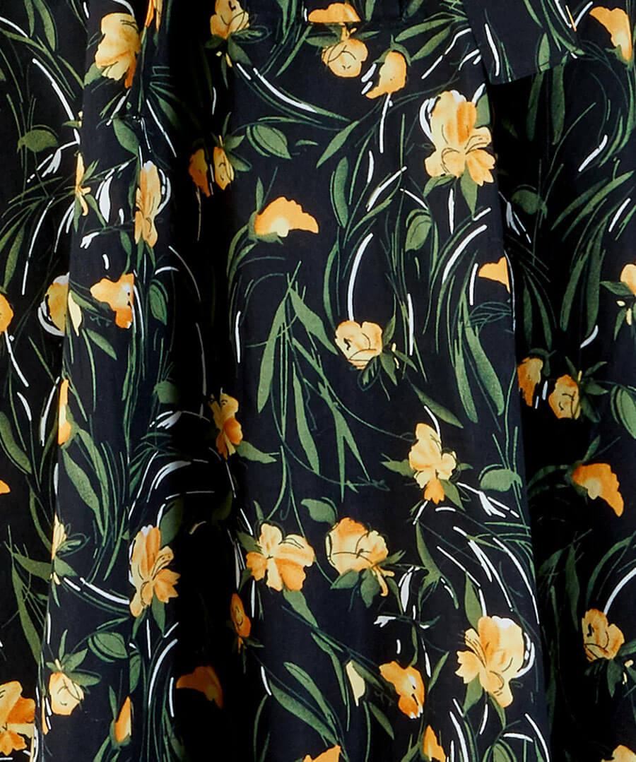 Floral Shirt Dress Back