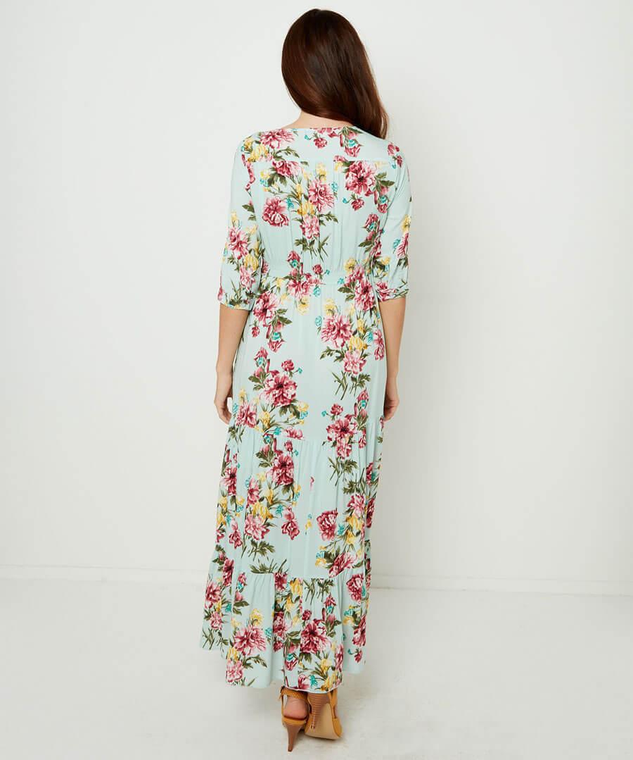 Tantalising Tiered Dress Model Back