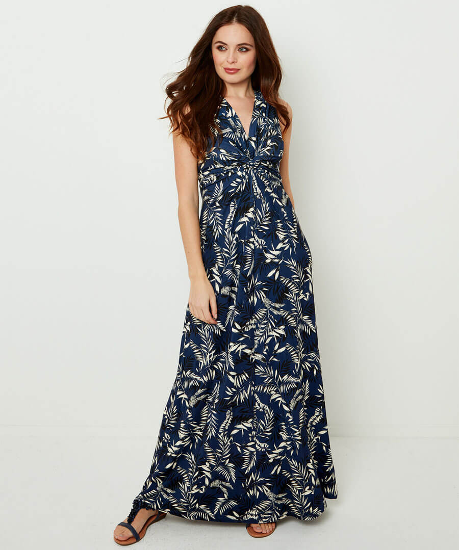 Printed Maxi Dress Model Front